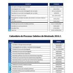 Cronograma Processo Seletivo 2016.1 PPGQB