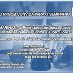 O PPGQB convida para o seminário do dia 26-10-2015