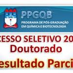Resultado Parcial do Processo Seletivo de Doutorado do PPGQB 2015.2